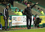 Hibs v St Johnstone.....11.02.13      SPL.Steve Lomas shouts instructions.Picture by Graeme Hart..Copyright Perthshire Picture Agency.Tel: 01738 623350  Mobile: 07990 594431