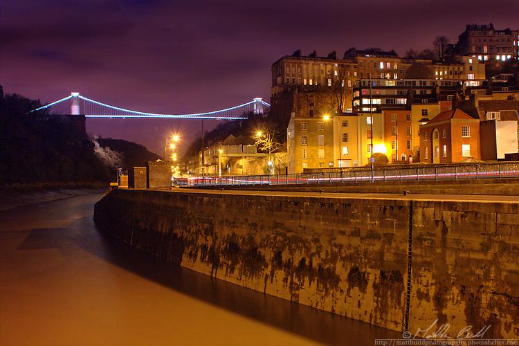 Clifton Suspention Bridge at night, Bristol