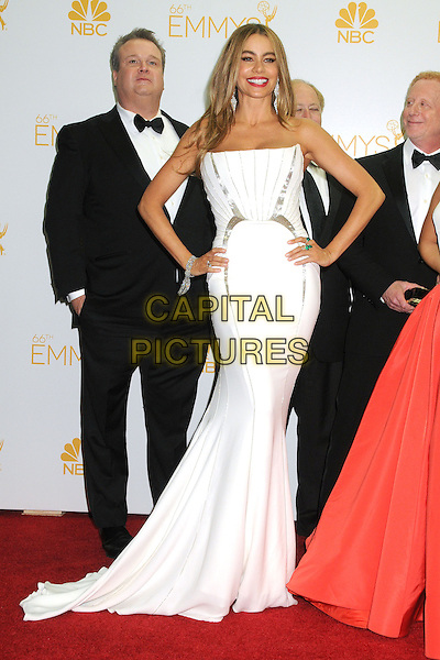 25 August 2014 - Los Angeles, California - Eric Stonestreet, Sofia Vergara. 66th Annual Primetime Emmy Awards - Press Room held at Nokia Theatre LA Live. <br /> CAP/ADM/BGP<br /> &copy;BGP/ADM/Capital Pictures