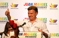 BOGOTA -COLOMBIA. 12-03-2014. El presidente Juan Manuel Santos Calderon presento en El Claustro de La Enseñanza su imagen de campaña para la presidencia de la Republica de Colombia para el periodo  2014-2018 / President Juan Manuel Santos Calderon presented in El Claustro de La Enseñanza your image campaign for the presidency of the Republic of Colombia for the period 2014-2018.  Photo: VizzorImage/ Felipe Caicedo