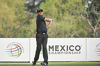 Dean Burmester (ZAF) watches his tee shot on 18 during round 2 of the World Golf Championships, Mexico, Club De Golf Chapultepec, Mexico City, Mexico. 3/2/2018.<br /> Picture: Golffile | Ken Murray<br /> <br /> <br /> All photo usage must carry mandatory copyright credit (&copy; Golffile | Ken Murray)