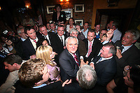 05/05/2008.An Taoiseach bertie Ahern TD at Fagan's pub, Drumcondra, Dublin..Photo: Gareth Chaney Collins