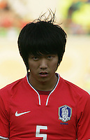 South Korea's Young Gwon Kim (5) stands on the field before the FIFA Under 20 World Cup Quarter-final match between Ghana and South Korea at the Mubarak Stadium  in Suez, Egypt, on October 09, 2009.