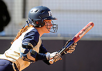 Florida International University outfielder Beth Peller (9) plays against the University of Illinois.  FIU won the game 8-0 on February 12, 2012 at Miami, Florida. .