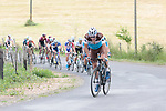 First pass of the final climb and the attacks start during Stage 1 of the Route d'Occitanie 2019, running 175.5km from Gignac-Vallée de l'Hérault to Saint-Geniez-d'Olt-et-d'Aubrac , France. 20th June 2019<br /> Picture: Colin Flockton | Cyclefile<br /> All photos usage must carry mandatory copyright credit (© Cyclefile | Colin Flockton)