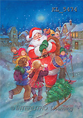 Interlitho, Sue Allison, CHRISTMAS SANTA, SNOWMAN, classical, paintings, santa, drums, kids(KL5474,#X#)