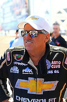 Apr 12, 2015; Las Vegas, NV, USA; NHRA funny car driver John Force during the Summitracing.com Nationals at The Strip at Las Vegas Motor Speedway. Mandatory Credit: Mark J. Rebilas-