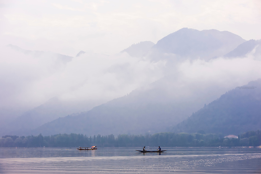Dal Lake in Srinagar, Kashmir, Jammu and Kashmir State, India.