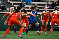 Seattle, Washington -  Saturday April 22, 2017: Rebekah Stott during a regular season National Women's Soccer League (NWSL) match between the Seattle Reign FC and the Houston Dash at Memorial Stadium.