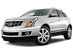 Low aggressive front three quarter view of a 2010 Cadillac SRX Performance.