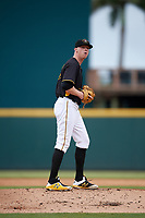 Bradenton Marauders starting pitcher Cam Vieaux (55) gets ready to deliver a pitch during a game against the Jupiter Hammerheads on May 25, 2018 at LECOM Park in Bradenton, Florida.  Jupiter defeated Bradenton 3-2.  (Mike Janes/Four Seam Images)
