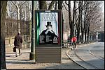 Torino si prepara ai festeggiamenti per i 150 anni dell'unità d'Italia. Manifesto sulla programmazione del Teatro Regio.