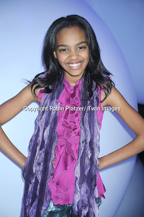 """China Anne McClain  of """"Ant Farm"""" attending The Disney Kids and Family Upfront 2011-2012  on March 16, 2011 at Gotham Hall in New York City."""