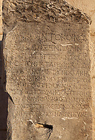 "Honorary inscription by the Lycian League for the city of Patara, 1st century AD, from Patara, Antalya, Turkey. The Lycian League was the earliest known democracy. It was formed in 205 BC of 23 member states, each of whom could elect a representative to the senate which met at the Bouleuterion in Patara. The inscription reads, ""The Lycian League has honoured again the people of Patara with a golden wreath and a colossal bronze statue because from the beginning they have been working in the best way for the political advantage of the Lycian League and made an important contribution towards achieving the goodwill of the divine Augusti."" Patara was a maritime Greek and Roman city on the South West Mediterranean coast of Lycia near modern-day Gelemis. It was said to be founded by Patarus, son of Apollo, and was famous for its temple and oracle of Apollo. It was a leading city of the Lycian League. Picture by Manuel Cohen"