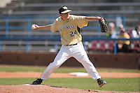 Relief pitcher Brandon Johnson #24 of the Wake Forest Demon Deacons in action versus the Boston College Eagles at Wake Forest Baseball Park April 11, 2009 in Winston-Salem, NC. (Photo by Brian Westerholt / Four Seam Images)