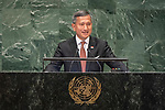 General Assembly Seventy-third session, 14th plenary meeting<br /> <br /> <br /> His Excellency Vivian BALAKRISHNANMinister for Foreign Affairs of Singapore