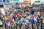 CHARITY: Walker/Clyist and runners who gathered outside the Grand Hotel, Tralee on Sunady to take part in the 10k charity walk/cycle and run for Recovery Haven, Tralee.  .................. . ............................... ..........