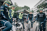 pre-training breefing<br /> <br /> Team Trek-Segafredo women's team<br /> training camp<br /> Mallorca, january 2019<br /> <br /> &copy;kramon