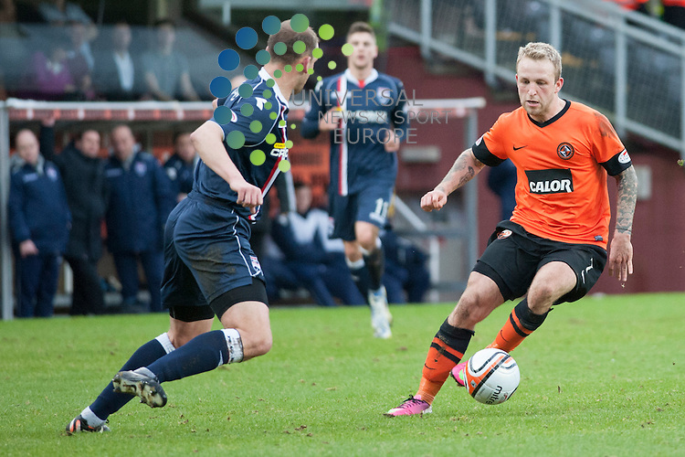 Johnny Russell in possession during the Dundee Utd v Ross County match at Tannadice.  Picture: Fraser Stephen/Universal News And Sport (Scotland).  Saturday 27 January 2013.