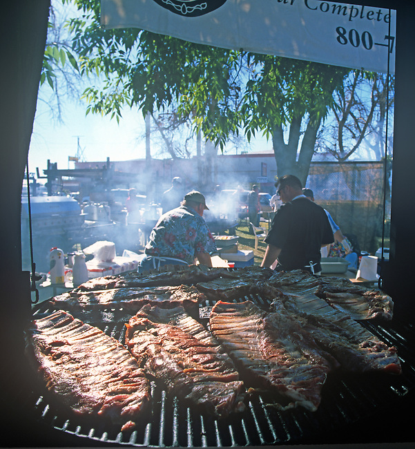 Chef Preparing BBQ, Carrot & BBQ Cook-off, Holtville, California