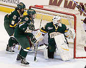 Chelsea Furlani (Vermont - 10), Saleah Morrison (Vermont - 4), Kristen Olychuck (Vermont - 35) - The University of Vermont Catamounts defeated the Boston College Eagles 5-1 on Saturday, November 7, 2009, at Conte Forum in Chestnut Hill, Massachusetts.