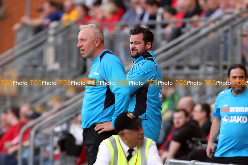 Pools manager Matthew Bates during Leyton Orient vs Hartlepool United, Vanarama National League Football at The Breyer Group Stadium on 13th October 2018