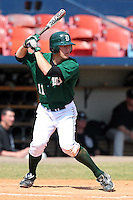 Dartmouth Big Green outfielder Jake Carlson #11 during a game vs. the Long Island Blackbirds at Chain of Lakes Park in Winter Haven, Florida;  March 20, 2011.  Dartmouth defeated Long Island 6-0.  Photo By Mike Janes/Four Seam Images