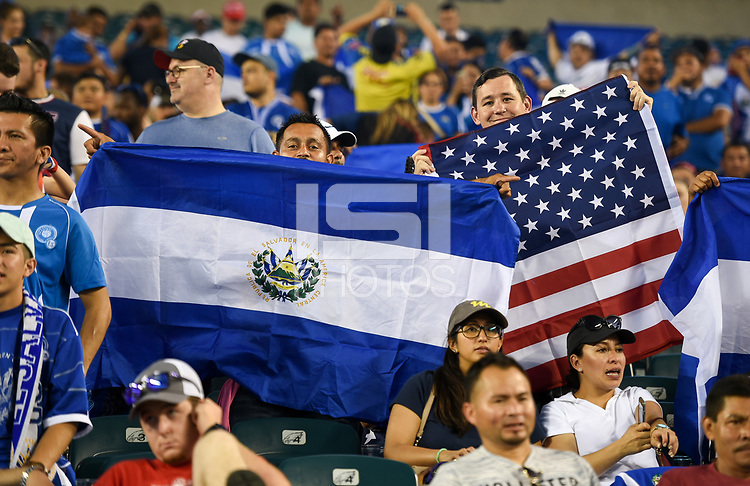 Philadelphia, PA - Wednesday July 19, 2017: Fans of El Salvador and USA during a 2017 Gold Cup match between the men's national teams of the United States (USA) and El Salvador (SLV) at Lincoln Financial Field.