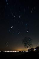 Star trails over Lake Oneida, NY.