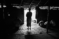 As Muslims in a predominately Buddhist country, the Rohingya in north Rakhine State have been subjected to religious persecution for decades.  Many Rohingya men say they cannot practice their religion freely in Burma.  Mosques and madrassas are often destroyed to make way for military installments.  Rohingya men pray at a small mosque in Bangladesh. (2009)