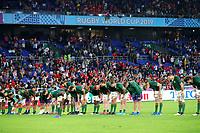 27th October 2019, Oita, Japan;  South Africa team bow to thank the fans;  2019 Rugby World Cup Semi-final match between Wales 16-19 South Africa at International Stadium Yokohama in Yokohama, Kanagawa, Japan.  - Editorial Use
