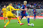 League Santander 2017/2018. Game: 28.<br /> FC Barcelona vs At. Madrid: 1-0.<br /> Gimenez vs Ivan Rakitic.