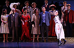 "Alexandra Socha during the final performance curtain call for the New York City Center Encores! at 25 production of  ""Hey, Look Me Over!"" on February 11, 2018 at the City Center Theatre in New York City."