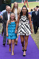 Heather Watson<br /> arriving for the Tennis on the Thames WTA event in Bernie Spain Gardens, South Bank, London<br /> <br /> ©Ash Knotek  D3412  28/06/2018