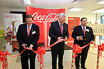 Senior Vice President Global Business and Technical Services Harry Anderson along with Fergus O'Dowd TD and Vice President of Commercial Product Supply Fred Yochum officialy Open Coca Cola Global Business Services Finance Operation for Europe and Eurasia in Southgate Shopping Centre 28/10/11..(Photo credit should read Jenny Matthews www.newsfile.ie)....This Picture has been sent you under the conditions enclosed by:.Newsfile Ltd..The Studio,.Millmount Abbey,.Drogheda,.Co Meath..Ireland..Tel: +353(0)41-9871240.Fax: +353(0)41-9871260.GSM: +353(0)86-2500958.email: pictures@newsfile.ie.www.newsfile.ie.