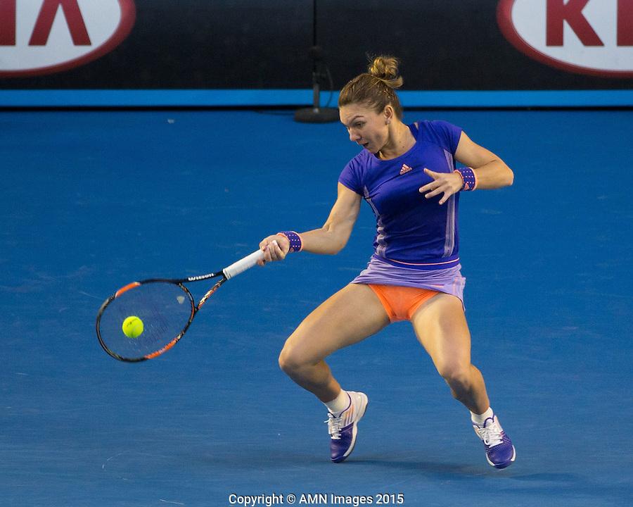 Simona Halep (ROU)<br /> <br /> Tennis - Australian Open 2015 - Grand Slam -  Melbourne Park - Melbourne - Victoria - Australia  - 25 January 2015. <br /> &copy; AMN IMAGES