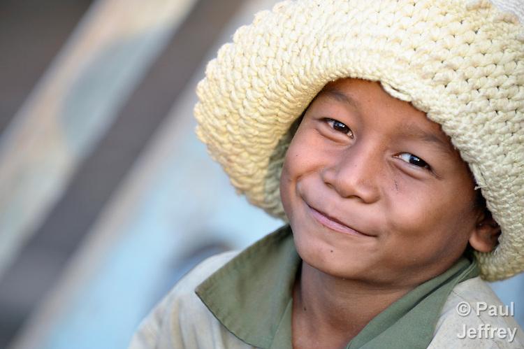 A boy in the Cambodian village of Att Su.
