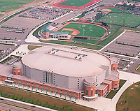 Aerial taken Tuesday, June 13, 2000, as seen from WBNS 10TV Chopper 10 of the Schottenstein Center at The Ohio State University ( OSU ); Bill Davis Stadium baseball complex is next to the center. (Dispatch photo by Craig Holman)
