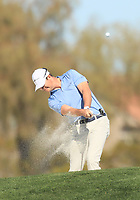 2nd February 2020, TPC Scottsdale, Arizona, USA;  Hudson Swafford hits from a fairway sand trap on the second hole during the final round of the Waste Management Phoenix Open