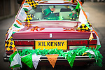 © Joel Goodman - 07973 332324 . 13/03/2016 . Manchester , UK . Kilkenny number plate on a maroon Rolls Royce . The St Patrick's Day Parade , celebrating the Irish Community , through Manchester City Centre , in the Spring sunshine . Photo credit : Joel Goodman