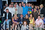 Birthday Boy - Ritchie O'Brien from Fenit, seated centre having a wonderful time with family and friends at his 50th birthday bash held in Tralee Sailing Club, Fenit on Saturday night. ....................................................................... ............   Copyright Kerry's Eye 2008