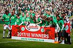 29.04.18 Celtic v Rangers: Celtic celebrate at full time