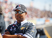 Feb 26, 2017; Chandler, AZ, USA; NHRA top fuel driver Antron Brown during the Arizona Nationals at Wild Horse Pass Motorsports Park. Mandatory Credit: Mark J. Rebilas-USA TODAY Sports