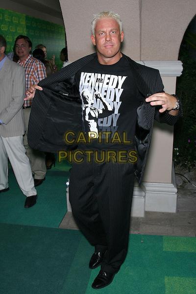 MR. KENNEDY.The CW Network July 2006 TCA - Arrivals held at Ritz Carlton Huntington Hotel, Pasadena, California, USA..July 17th, 2006.Photo: Zach Lipp/AdMedia/Capital Pictures.Ref: ZL/ADM.full length black pinstripe suit.www.capitalpictures.com.sales@capitalpictures.com.© Capital Pictures.
