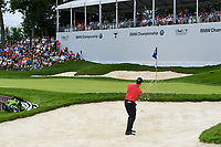 Adam Hadwin (CAN) chips up tight from the trap on 17 during Rd4 of the 2019 BMW Championship, Medinah Golf Club, Chicago, Illinois, USA. 8/18/2019.<br /> Picture Ken Murray / Golffile.ie<br /> <br /> All photo usage must carry mandatory copyright credit (© Golffile | Ken Murray)