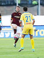 Daniele De Rossi  durante l'incontro di calcio di Serie A   Frosinone - Roma   allo  Stadio Matusa di   di Frosinone ,12  Settembre 2015