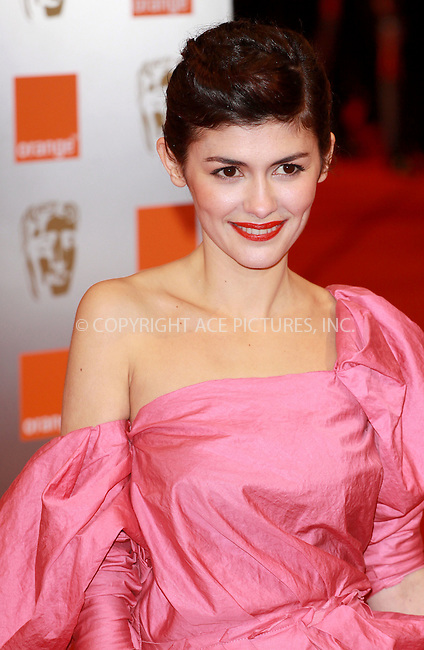 WWW.ACEPIXS.COM . . . . .  ..... . . . . US SALES ONLY . . . . .....February 21 2010, London....Audrey Tautou at the Orange British Academy Film Awards (BAFTA's) on February 21 2010 in London......Please byline: FAMOUS-ACE PICTURES... . . . .  ....Ace Pictures, Inc:  ..tel: (212) 243 8787 or (646) 769 0430..e-mail: info@acepixs.com..web: http://www.acepixs.com