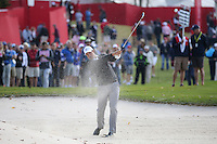 Henrik Stenson (Team Europe) finds the sand on the 9th during Thursday's Practice Round ahead of The 2016 Ryder Cup, at Hazeltine National Golf Club, Minnesota, USA.  29/09/2016. Picture: David Lloyd | Golffile.