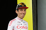 Stephane Rossetto (FRA) Cofidis takes the combativity prize in his first ever day racing at the Tour at the end of Stage 1 of the 2019 Tour de France running 194.5km from Brussels to Brussels, Belgium. 6th July 2019.<br /> Picture: Colin Flockton | Cyclefile<br /> All photos usage must carry mandatory copyright credit (© Cyclefile | Colin Flockton)