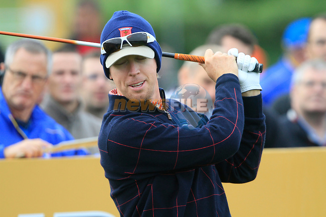 Hunter Mahan on the 6th tee during Practice Day 3 of the The 2010 Ryder Cup at the Celtic Manor, Newport, Wales, 29th September 2010..(Picture Eoin Clarke/www.golffile.ie)